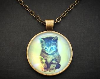 Cat Necklace Novelty Jewelry - Cat Novelty Gift For Girlfriend - Gift For Girl Necklace - Cat Girlfriend Necklace - Cat Costume Jewelry