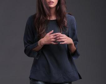 SIlk blouse / silk shirt / silk top / natural silk blouse