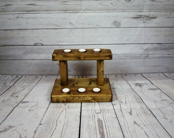 Wooden candle holder - Mothers day  candle holder wooden tealight holder - mantle piece - tealight - candle - Anniversary