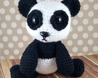 Amigurumi Panda- Crochet Panda - Panda Stuffed Animal