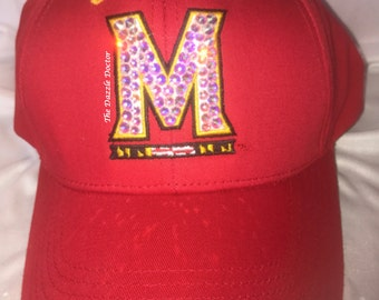 Terps Hat, Maryland Terrapins Hat, Bling hat, Bling Terps hat, Maryland hat, University of Maryland, University of Maryland hat,College Park