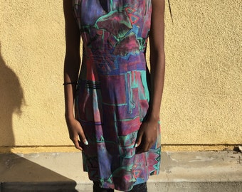 80's Abstract Straight Fit Dress