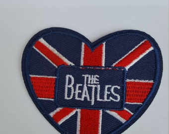 The Beatles UK Heart Iron on Sew on Patch Transfer