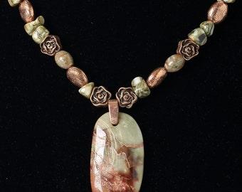 Autumn Jasper Pendant Necklace