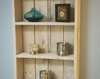 Rustic Reclaimed Wood Shelf / Display / Whitewash /