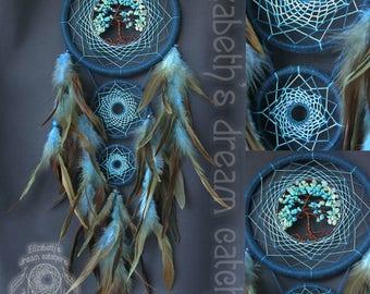 Dream catcher Dreamcatcher ocean dreamcatcher Indian talisman Blue color Turquoise Aquamarine Mint dreamcatcher Dreamcatcher blue Boho style