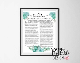 LDS Family Proclamation Print, LDS Home Decor, Printable Wall Art, Mormon Quotes Printables