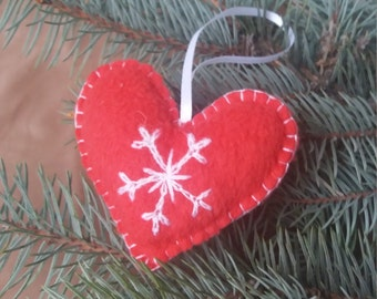 Christmas tree ornaments Heart Christmas decoration Holiday gift