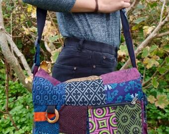 Handmade Patchwork Messenger Bag
