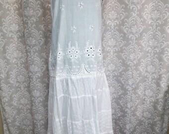 Beach Wedding Dress, White Cotton Boho Wedding Dress, Casual Beach Wedding Dress, Simple White Wedding Dress, Boho Cotton Dress