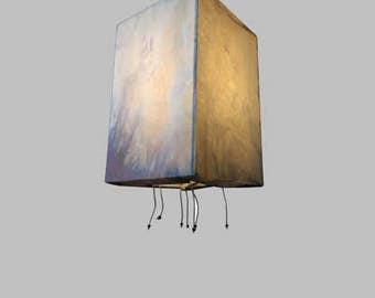 INDIGO SILK LAMPSHADE