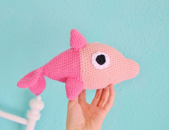Dolphin amigurumi stuffed Dolphin amigurumi gift for