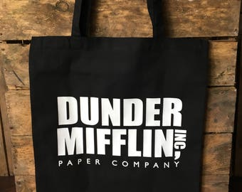 Dunder Mifflin Black Tote Bag | The US Office