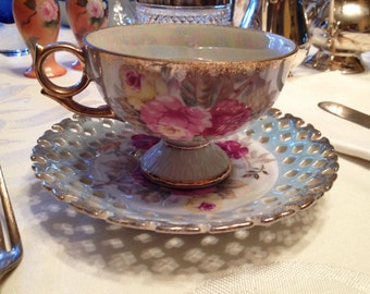 Vintage Royal Halsey Tea Cup & Saucer