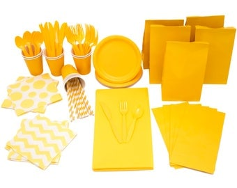 Yellow Tableware Pack - Ready to Send