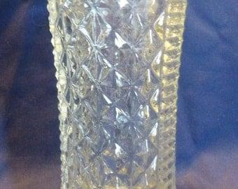 Vintage Glass Vase, 1930's Glass Vase, Decorative Glass Vase, Moulded Glass Vase,Celery Vase,Collectible Class Vase, Gift Ideas.