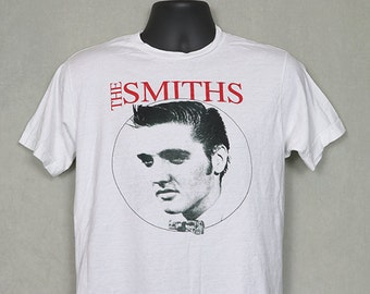 The Smiths t-shirt, vintage rare white tee shirt, Morrissey, 1980s 80s New Wave, Shoplifters of the World Unite