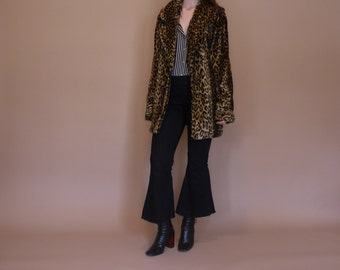 Vintage Faux Leopard Coat
