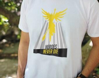 Overwatch Mercy Shirt - Premium Unisex Tshirt | Mercy Apparel, Overwatch Mercy Tshirt, Unisex Overwatch Tees, Heroes Never Die Shirt