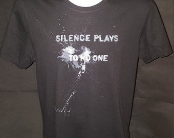 Tshirt, WHITELIGHT 'Silence plays to no one', 100% Cotton, black --- really rocks!!!!