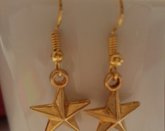 Earring, Star Gold