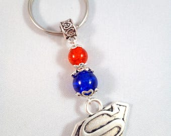 "Keychain Superman/Supergirl Silver ""Hero"""