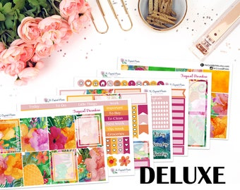 DELUXE Tropical Paradise Vertical Planner Kit