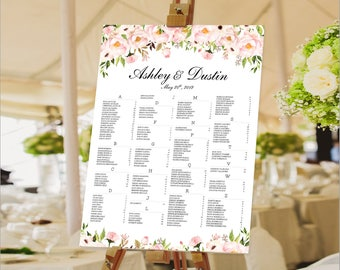 Wedding Seating Chart Poster, Wedding seating chart alphabetical, Wedding Seating Chart, Wedding Polka Dots - US_WC0901a