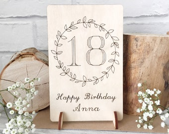 18 Birthday Card - 18th Card - Gift for 18th Birthday - Age Card - 18th Birthday Gift - Keepsake Card - Card for Daughter - Card for Friend