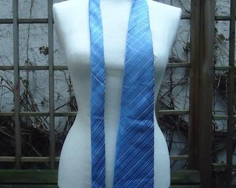 70 tie true vintage tie designer allegro italy style blue blaugrau striped wide 1970s