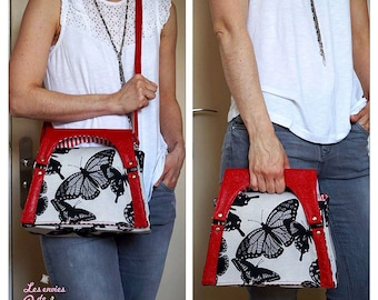 Alyssia Clutch Shoulder Bag Crossbody Bag Pattern - PDF Bag Sewing Pattern Pattern RLR Creations