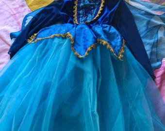 Princess Aurora BLUE toddler dress up/cosplay dress