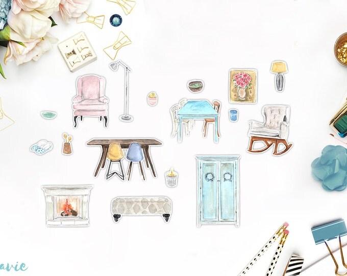 Furniture sticker set 17 pcs