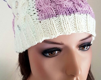Pussycat Hat -Cat Hat - March Pussycat Hat - Knit Winter Cat Hat -Pussy Hat - Ready to ship
