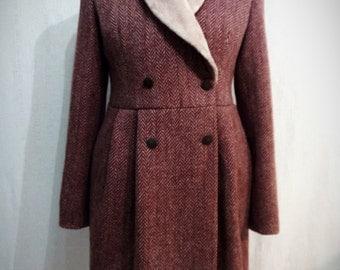 ON SALE 20% OFF Womens' Winter Coat, Soft Red Coat, Fur Coat, Warm Coat, Womens Jacket, Winter Jacket, Warm Fur Jacket