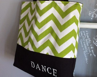 Customized dance tote, dance bag