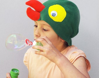 Kids costume, Parrot costume hat, bird costume hat, kids dress up hat, toddler pretend play, toddler costume, kids Halloween costume