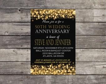 50th Anniversary Invitation Customized, 50th, Anniversary Invitation, Anniversary, Wedding Anniversary, Printable Invitation