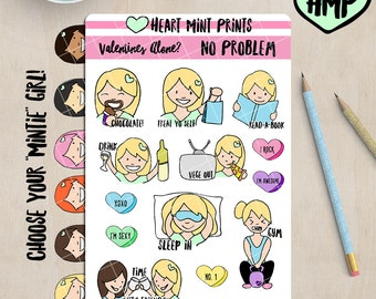 Anti-Valentines Day Planner Stickers / Valentines Day Alone? No Problem!