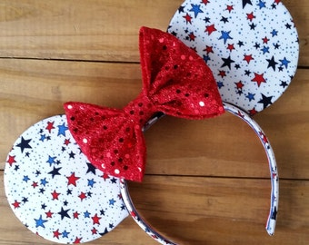 4th of July Stars Mouse Ears