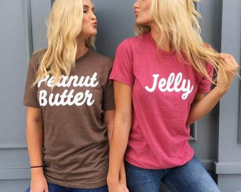 BFF Peanut Butter & Jelly Tees