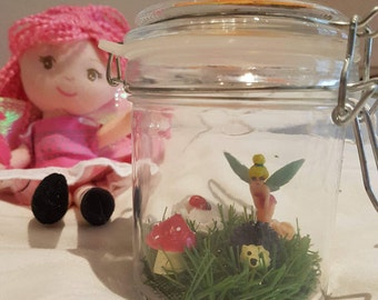 Unique Handmade Freshly Caught Fairy In A Jar with LED night light- Edition 2