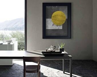 ABSTRACT ART - Digital Art Download - Arte Astratta - Yellow and black - Wall Art - Digital Art - Printable Poster