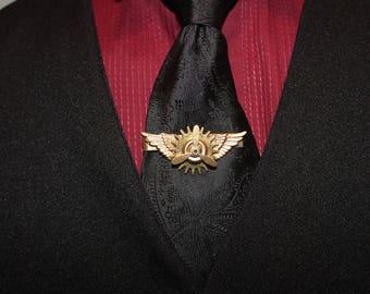 Steampunk Pilot's Tie Clip