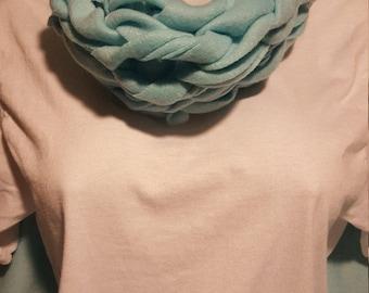 100% fleece infinity scarf - aqua
