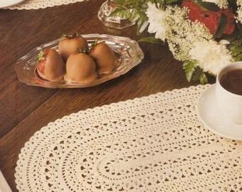 Vintage Oval Placemat Crochet Pattern
