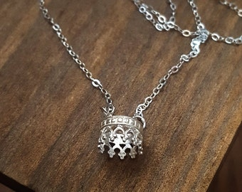 Unique Crown Necklace in Sterling Silver /Lace Necklace/ Tiara necklace / lace choker/handmade jewellery Australia