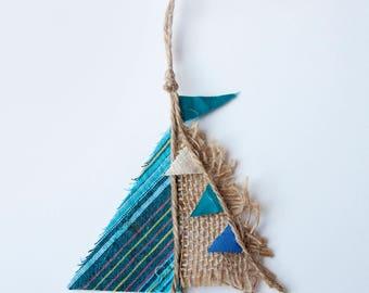 Driftwood boat - 'Sea Jewels'