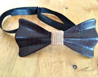 Bow of wood laminated Wenge and hemp rope