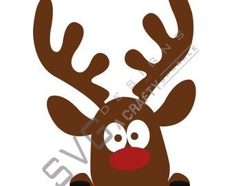 Reindeer SVG, Christmas SVG Cutting File, Cricut Silhouette, christmas reindeer, rudolph SVG
